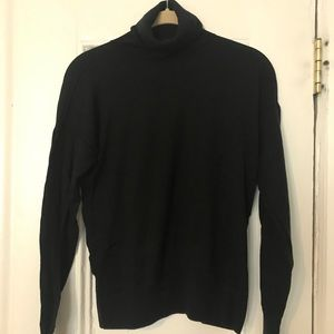 Ann Taylor Merino wool black turtleneck sweater